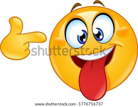 crazy face emoji emoticon with