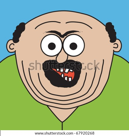 fat man cartoon. stock vector : Crazy fat man.