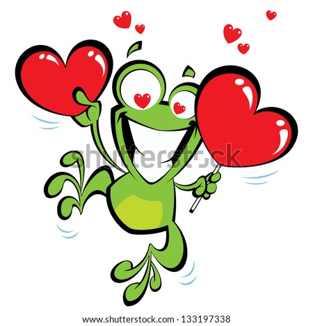 crazy frog jumping excited