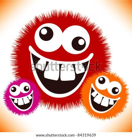 Cartoon Crazy Face Crazy Furry Funny Face Cartoon