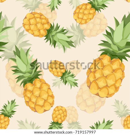 crazy pineapple seamless