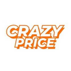 Crazy Price Shopping Offer Icon Label Design Vector