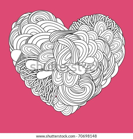 crazy psychedelic heart with