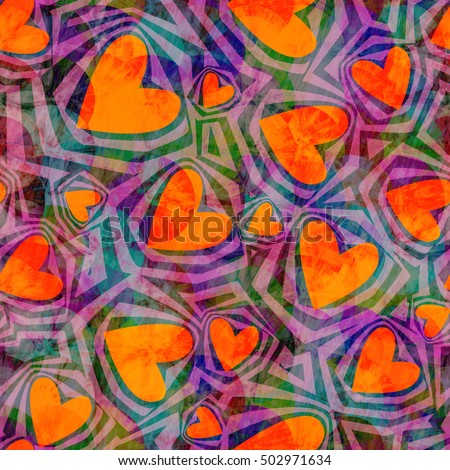 crazy seamless pattern with