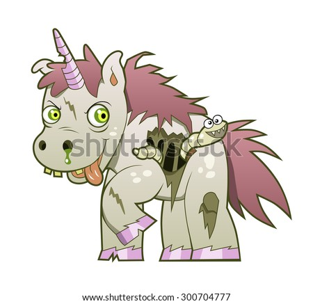 crazy undead unicorn with the