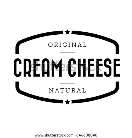 Cream Cheese vintage stamp vector