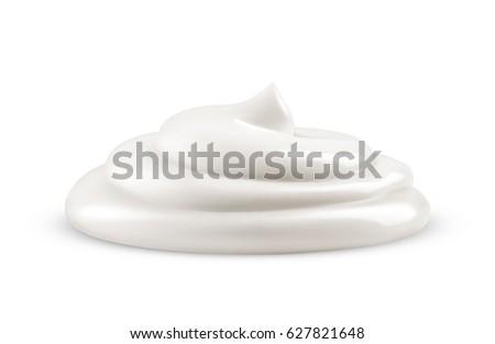 Cream isolated on white background