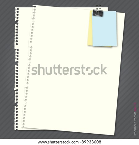 Cream Paper with note on gray background