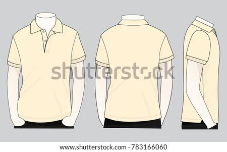 Cream polo shirt for template #783166060