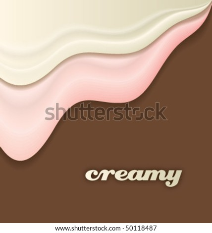 creamy abstract design