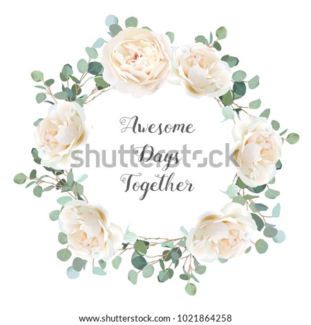 creamy white roses and silver
