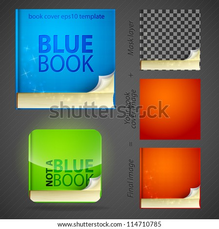 Create your book cover icon emblem design set, editable eps10 vector
