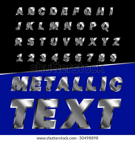 create your own metallic text