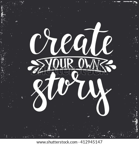 create your own story hand