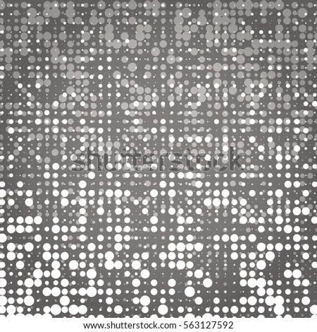 Created white and grey dot abstract background, stock vector
