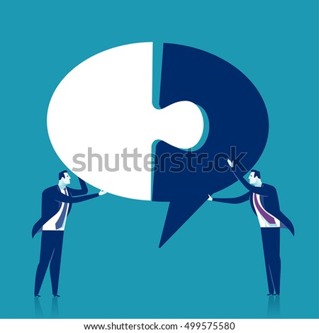 Creating ideas - cooperation. Business vector concept illustration