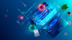 Creating software and website for different digital platform desktop pc, laptop, tablet, mobile phone. Development, design and coding web and offline app. Designing interface and code of programs.