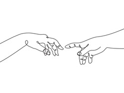Creation of Adam abstract line art drawing