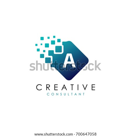 creative a data logo  a letter