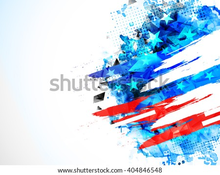 Creative abstract background in American Flag colors for 4th of July, Independence Day celebration.