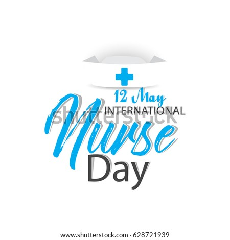 creative abstract, banner or poster for International Nurse Day with nice and creative design illustration, 12th of May.