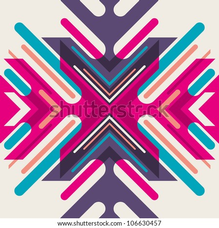 Creative abstract illustration. Vector illustration. - stock vector