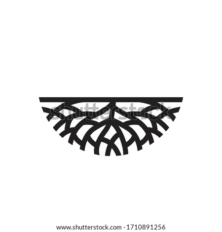 Creative abstract Life root on white background vector logo design template.  Stock fotó ©