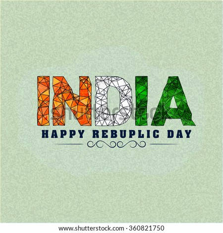 26 January Happy Republic Day With Indian Flag Download Free