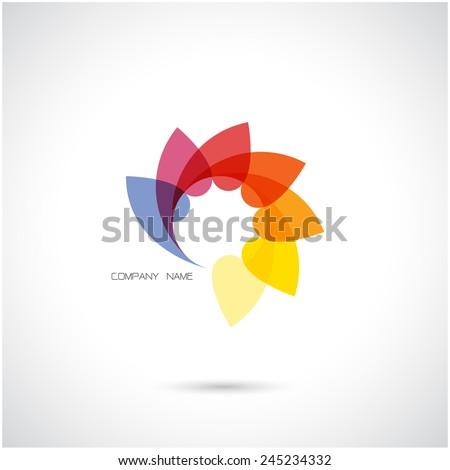 Creative abstract vector logo design template.Vector illustration.