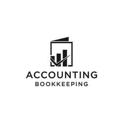 creative accounting logo with bookkeeping concept vector