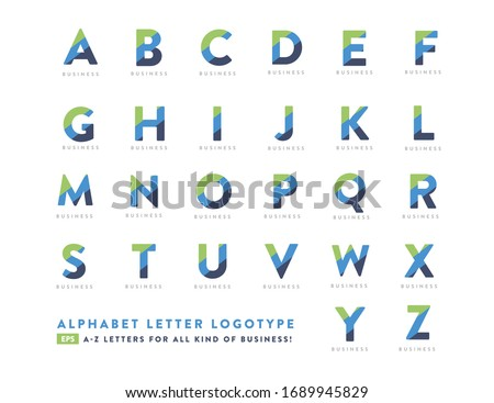 Creative Alphabet A to Z  Character Business Logotype Design Stock fotó ©