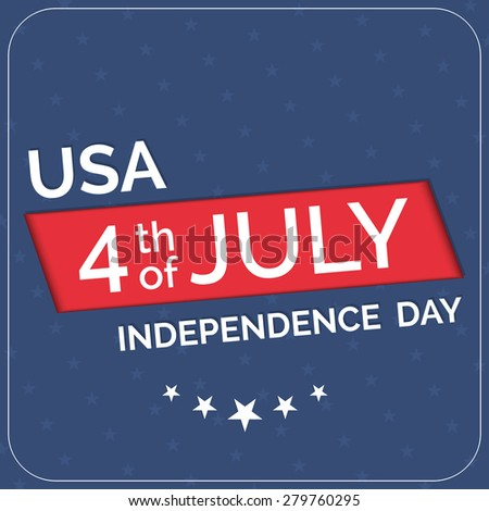 Creative and beautiful vector illustration of USA 4th of July Independence Day with five star in a creative and sparkling purple colour background.