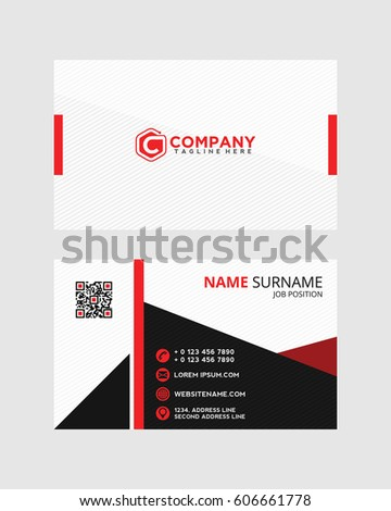 Creative and Clean Vector Business Card Template 5
