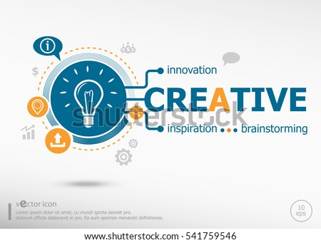 Creative and marketing concept. Project for web banner and creative process.