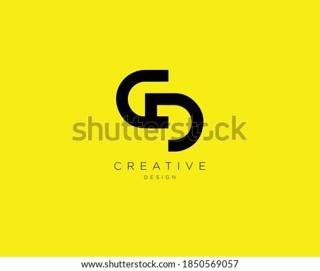 Creative and Minimalist Letter CD Logo Design , CD Monogram  Stock photo ©