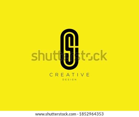 Creative and Minimalist Letter CS Logo Design Using letters C and S, CS Monogram Stock fotó ©