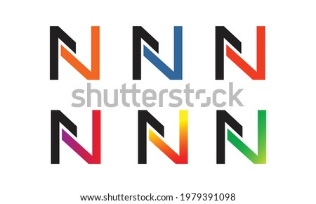 creative and professional n letter or font style logo or icon design template for your company and business Foto stock ©