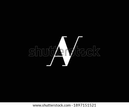 creative AR AN letter logo design vector template Stock fotó ©