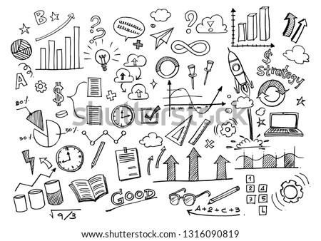 Creative art doodles hand drawn Design illustration.