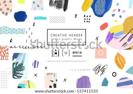 creative art header with