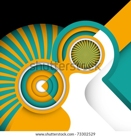 Creative artistic background with abstraction. Vector illustration.