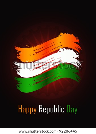 Creative background for Republic Day.
