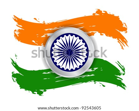 Creative background for Republic day and Independence Day. Vector illustration