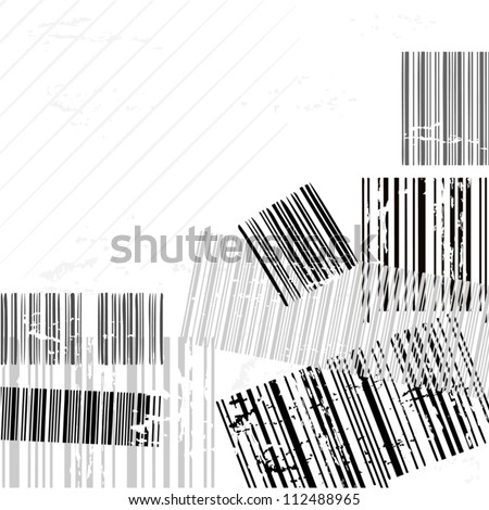 Creative background made with bar codes