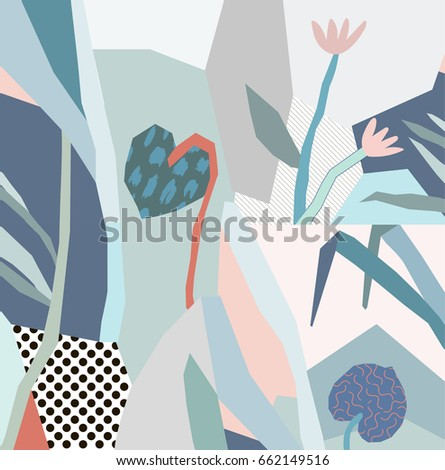 creative background with floral