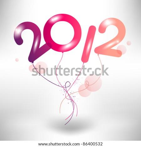 creative balloon 2012 vector