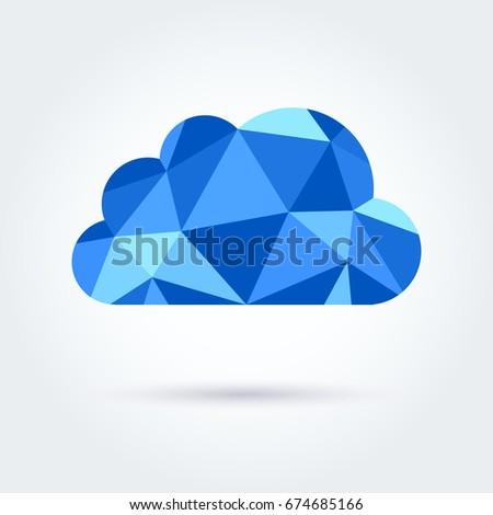 Creative blue cloud background