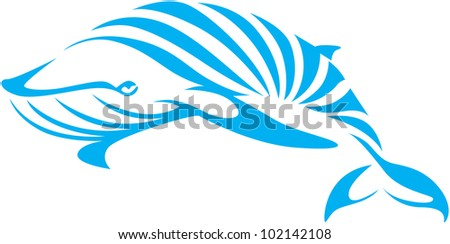 Creative Blue Whale Illustration
