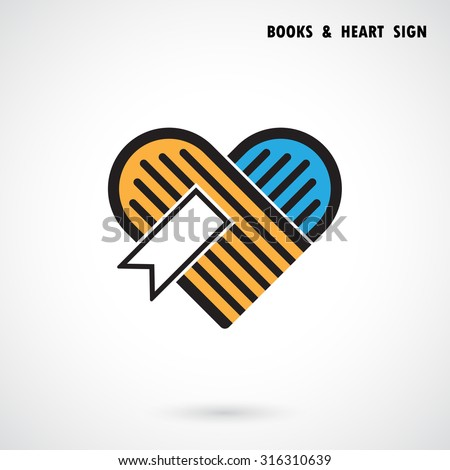 creative book and heart