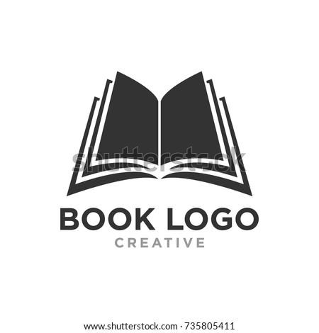 creative book logo design